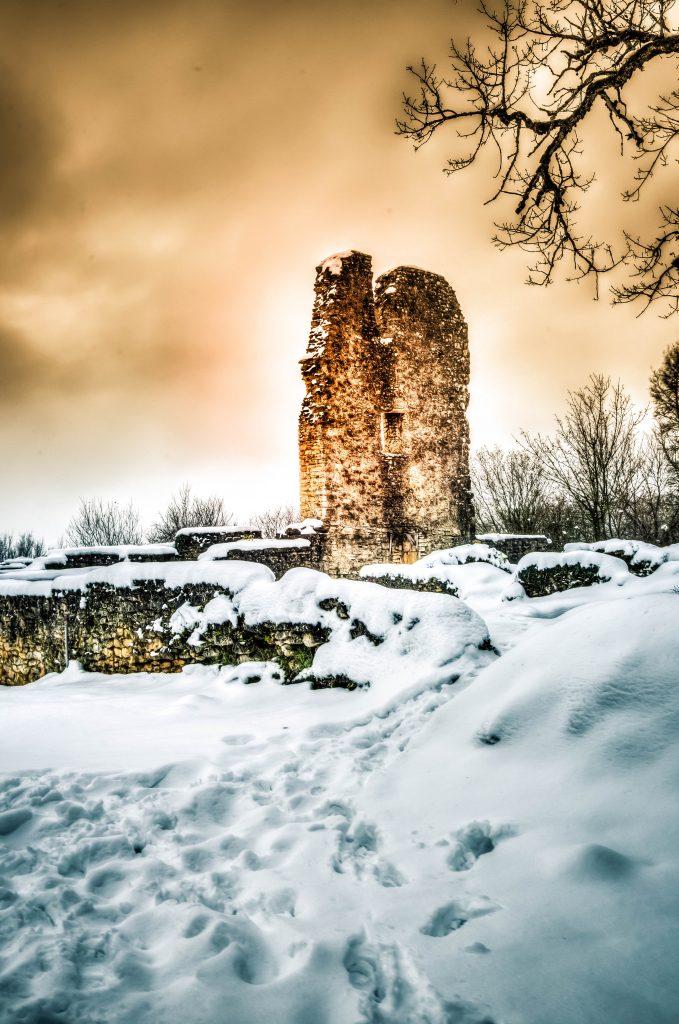 Site Archéologique du Mont Saint Germain sous la neige - Janvier 2021